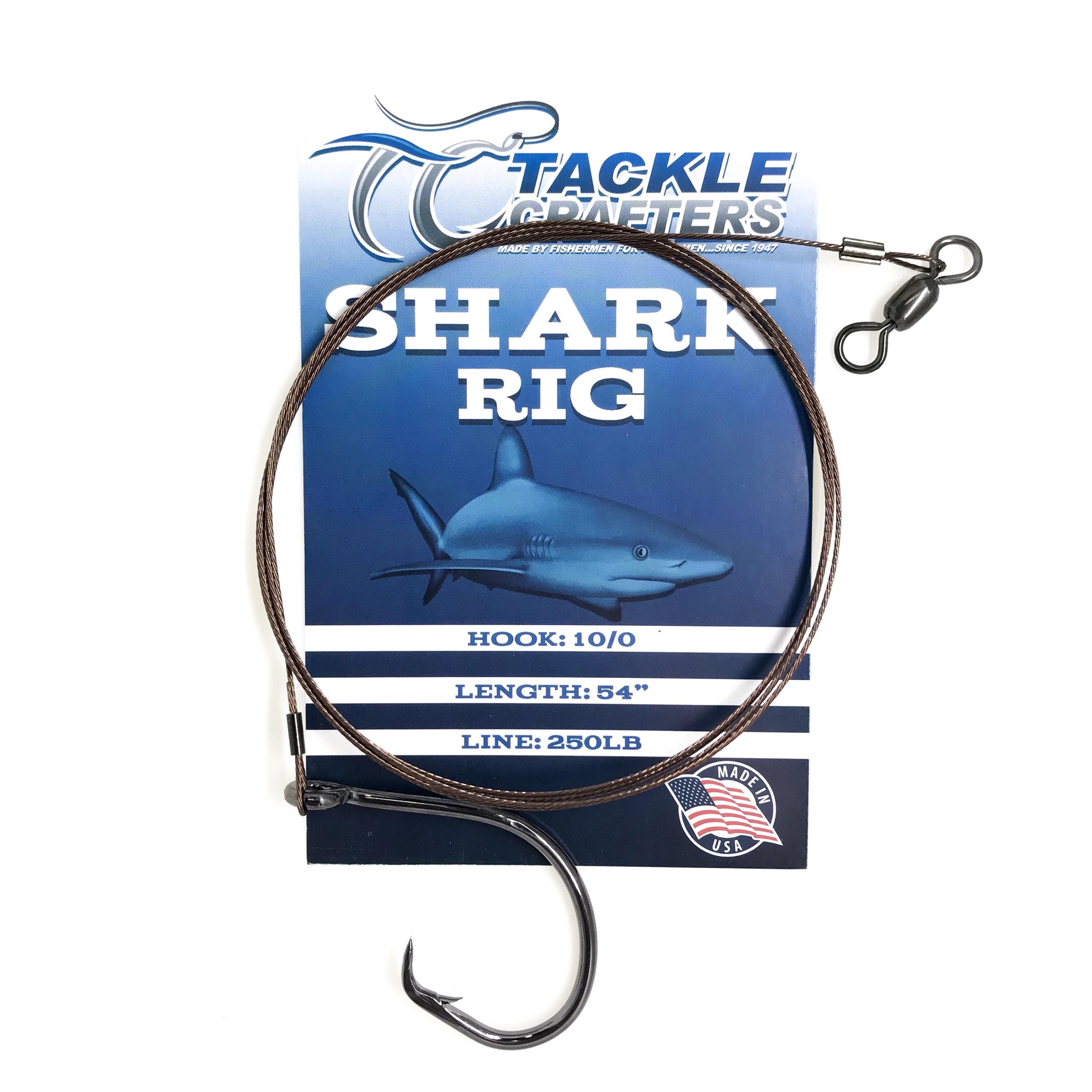 Shark rig 3 pack castable 8//0 circle hooks 90lb 1m 1x3pk Nob Head Fishing Rigs